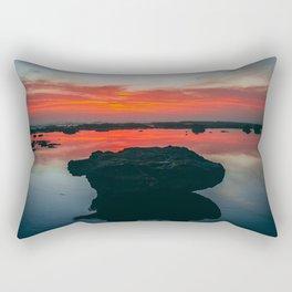 Bateau Beach Rock Rectangular Pillow