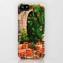 Greek Cafe iPhone Case