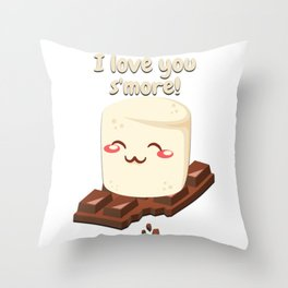 I Love You Smore Camping Tshirt Gifts Throw Pillow