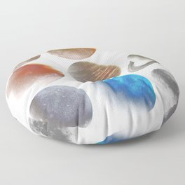 The Nine Planets Floor Pillow