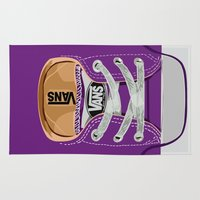 vans Area & Throw Rugs featuring Cute Purple Vans all star baby shoes apple iPhone 4 4s 5 5s 5c, ipod, ipad, pillow case and tshirt by Three Second