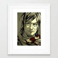 daryl dixon Framed Art Prints featuring Daryl Dixon by David Cousens