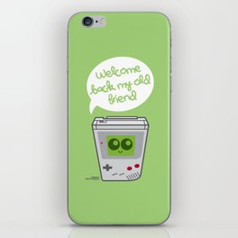 Welcome Back My Old Friend (Gameboy) iPhone Skin