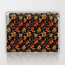 Metall Blumen Laptop & iPad Skin