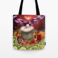 bath Tote Bags featuring Bath by Devorah Greenberg