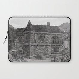 Medieval Fantasy Stone Townhouse Laptop Sleeve
