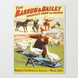 Vintage poster - Circus Canvas Print