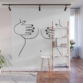 peek-a-boob Wall Mural
