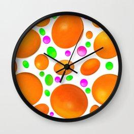 Sweet Candy Colour Orange Wall Clock