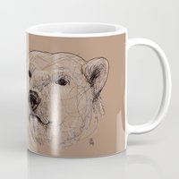polar bear Mugs featuring Polar Bear by Ursula Rodgers