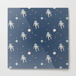 Space cartoon pattern Metal Print