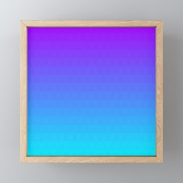 Blue and Purple Ombre - Flipped Framed Mini Art Print