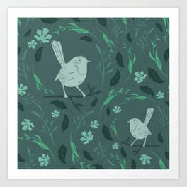 Birds Patterns Art Print