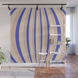 Warped Stripes - Vibrant Blue Wall Mural