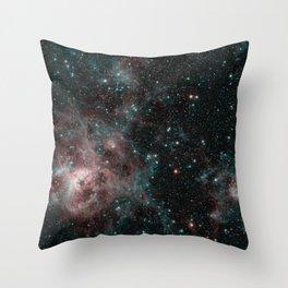 1939. Tarantula Nebula Spitzer 2-Color Image  Throw Pillow