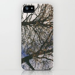 tree river reflections, grasmere, lake district, uk iPhone Case