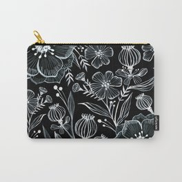 Blck and White Botanika Carry-All Pouch