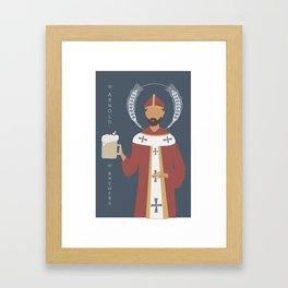St. Arnold of Brewers Framed Art Print