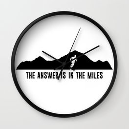The Answer Is In The Miles Wall Clock