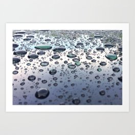 Rounded Rain Art Print