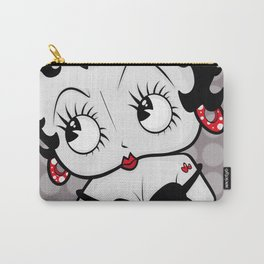 Betty Boop (Grey & Red) By Art In The Garage Carry-All Pouch
