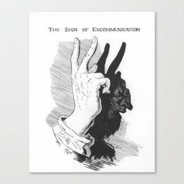 Excommunication Shadow Puppet Canvas Print