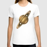saturn T-shirts featuring Saturn by Terry Fan