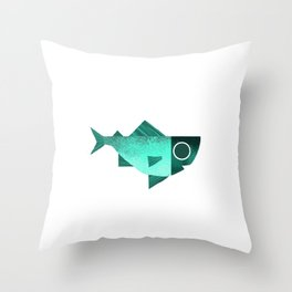 Cian fish Throw Pillow