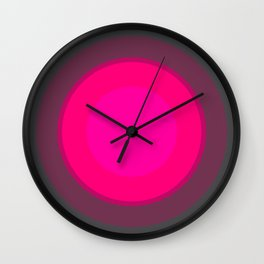 Hot Pink & Gray Focal Point Wall Clock
