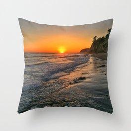 Sundown Santa Barbara Throw Pillow