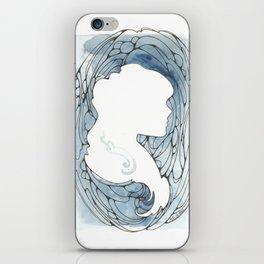Blue Silhouette iPhone Skin