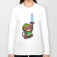 sword Long Sleeve T-shirts featuring Master Sword by VGPrints