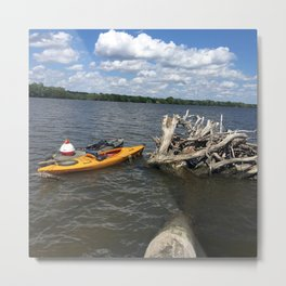 you can kayak and still be scene Metal Print