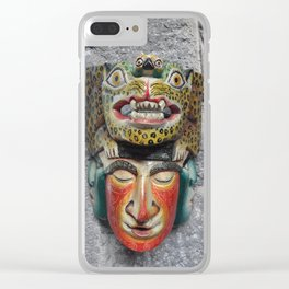 Guatemalan Mask Clear iPhone Case