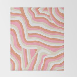 bubblegum pink zebra stripes Throw Blanket