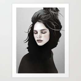 Elsewhere Girl Art Print