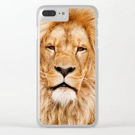 Lion Portrait Photograph Clear iPhone Case