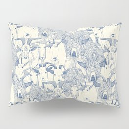 just goats classic blue pearl Pillow Sham