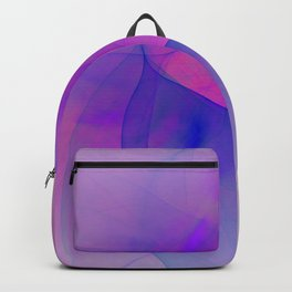Abstract in pink and blue colors Backpack