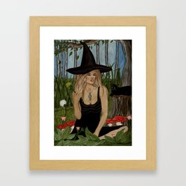 Witch Art - In My Magic Garden Framed Art Print