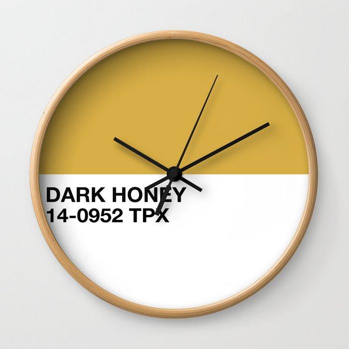 dark honey Wall Clock