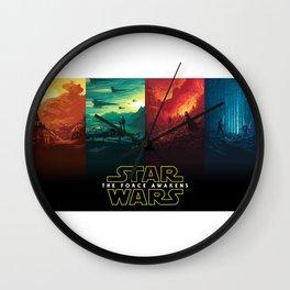 The Force Awakens Wallpaper HD Wall Clock