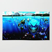 finding nemo Area & Throw Rugs featuring nemo by Marwan Baghdadi