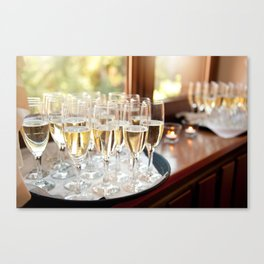 Wedding banquet champagne glasses Canvas Print