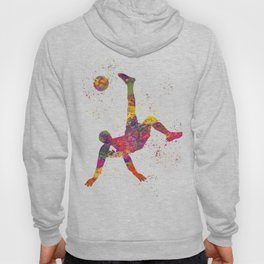 Soccer player isolated 09 in watercolor Hoody