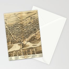Bird's Eye View of Brantford, Ontario, Canada (1875) Stationery Cards
