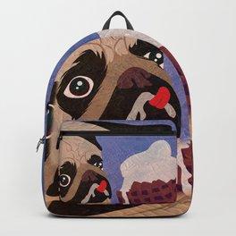Pug frozen Backpack