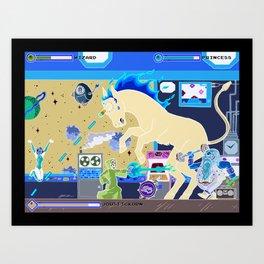 Princess Planet Boss Battle 3 - Joustickorn Art Print