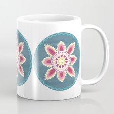 Suzani inspired floral blue 2 Mug