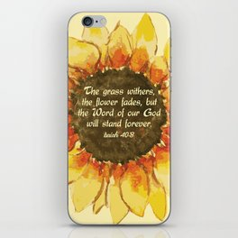 The Word of our God will stand forever iPhone Skin